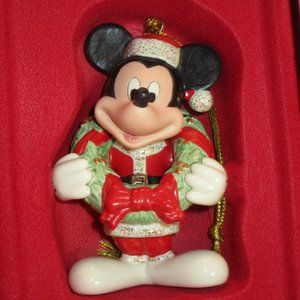 Lenox 2011 Merry MICKEY Mouse Christmas Ornament